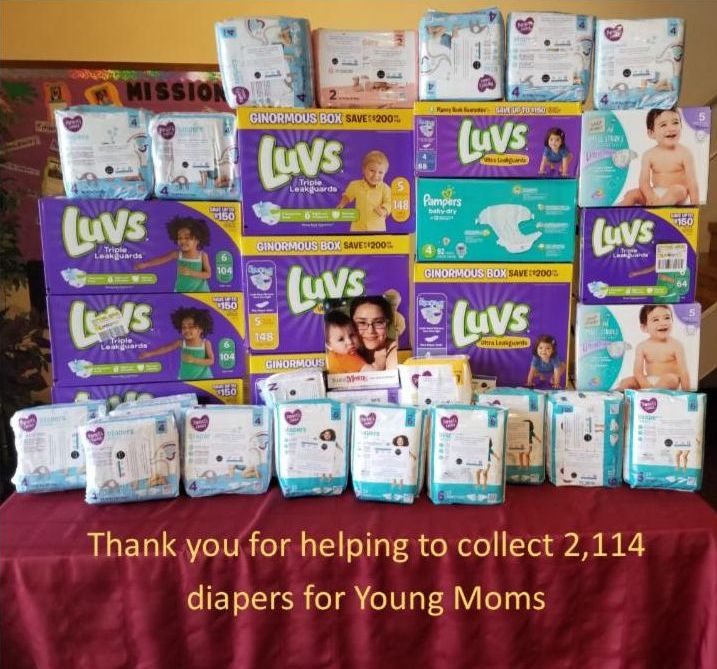 2,114 diapers