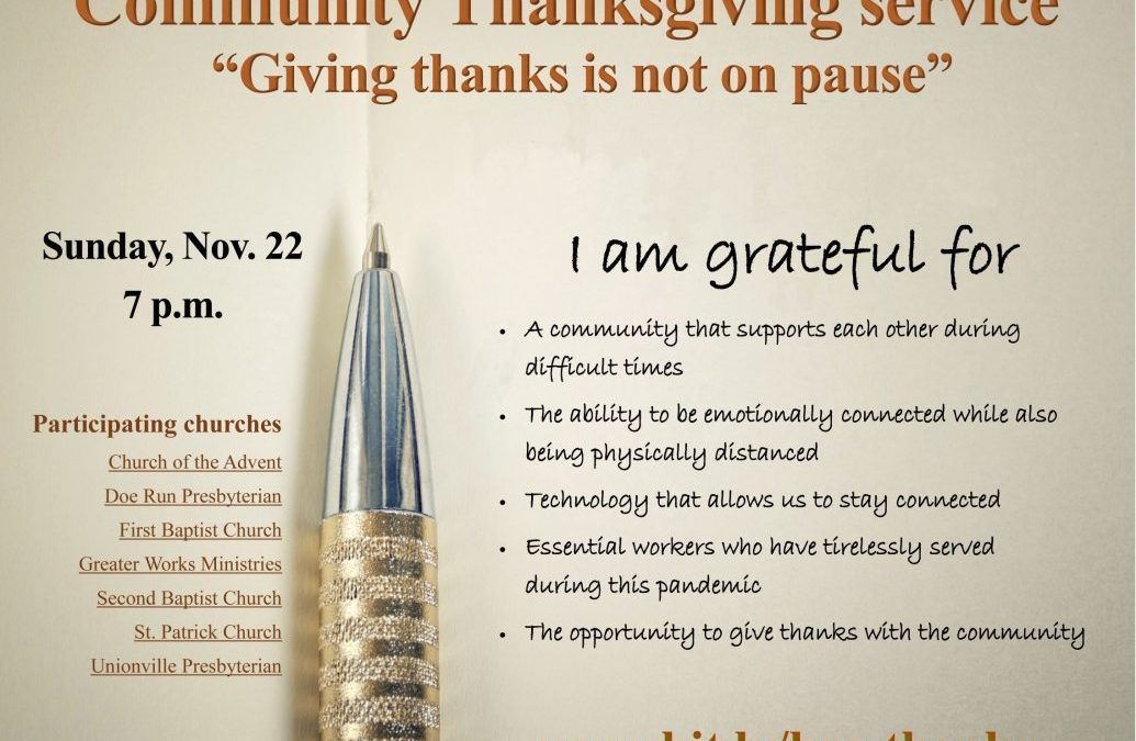 Giving thanks is not on pause